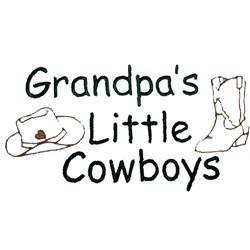 Grandpas Little Cowboys embroidery design