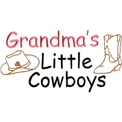 Grandmas Little Cowboys embroidery design
