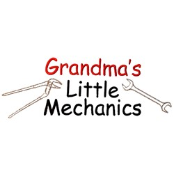 Grandmas little mechanic embroidery design