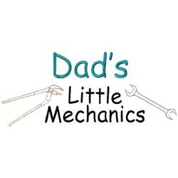 Dads little Mechanics embroidery design