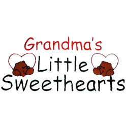 Grandmas Little Sweethearts embroidery design
