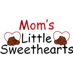 Moms Little Sweethearts embroidery design