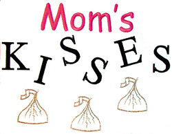 Moms kisses embroidery design