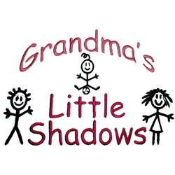 Grandmas Little shadows embroidery design