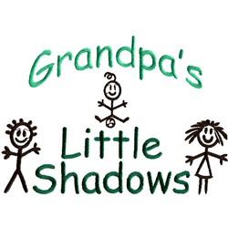 Grandpas little shadows embroidery design