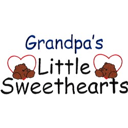 Grandpas little sweethearts embroidery design