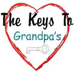 Grandpas Heart embroidery design