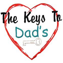 Dads Heart embroidery design