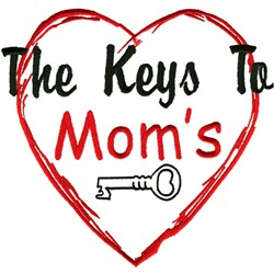 Moms heart embroidery design
