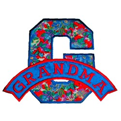 G Is For Grandma embroidery design