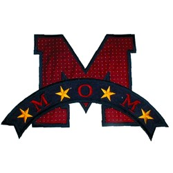 M is for mom embroidery design
