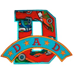 D is for dad embroidery design