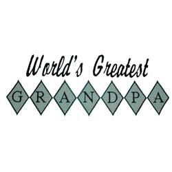 Greatest Grandpa embroidery design
