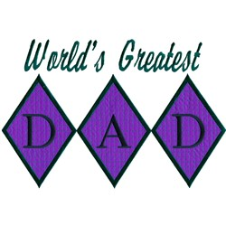 Greatest Dad, Appliqué embroidery design