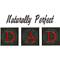 Perfect Dad, Appliqué embroidery design