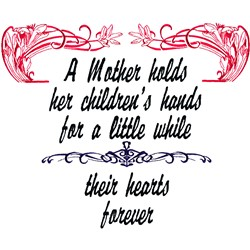 A Mothers Saying embroidery design