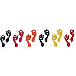 Row of footprints embroidery design