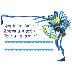 Wedding Blessing embroidery design