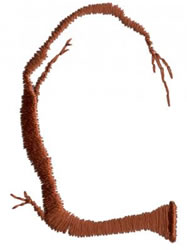 Twig C embroidery design