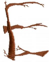 Twig E embroidery design
