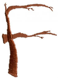 Twig F embroidery design