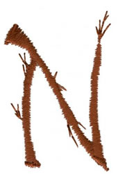 Twig N embroidery design