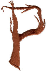 Twig P embroidery design