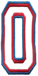 Athletic 0 embroidery design