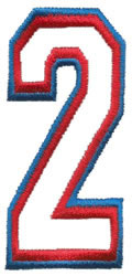 Athletic 2 embroidery design