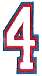 Two Color Athletic 4 embroidery design