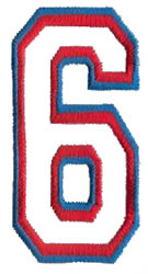 Two Color Athletic 6 embroidery design