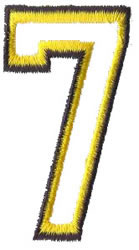 Athletic 7 embroidery design