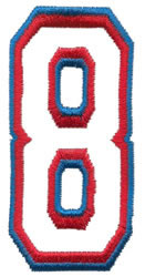 Athletic 8 embroidery design