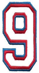 Athletic 9 embroidery design