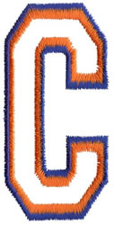 Two Color Athletic C embroidery design