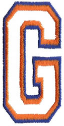 Two Color Athletic G embroidery design