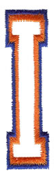 Two Color Athletic I embroidery design