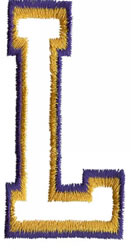 Two Color Athletic L embroidery design
