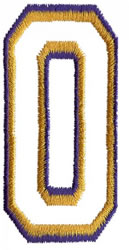 Two Color Athletic O embroidery design