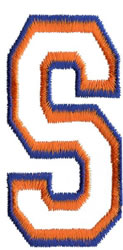 Two Color Athletic S embroidery design