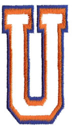 Two Color Athletic U embroidery design