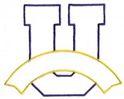 Athletic Banner U embroidery design