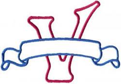 Applique Banner V embroidery design