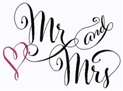 Mr and Mrs embroidery design