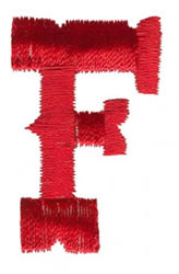 West F embroidery design