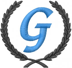 Wheat g embroidery design