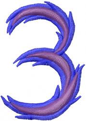 Wild 3 embroidery design