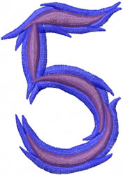 Wild 5 embroidery design