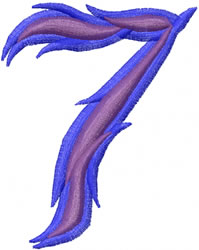Wild 7 embroidery design