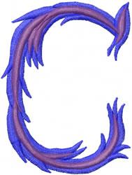 Wild C embroidery design